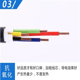 多股软铜线电缆BVR1*1.5