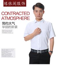 可定制LOGO夏季男款短袖職業襯衣工作服LDX601