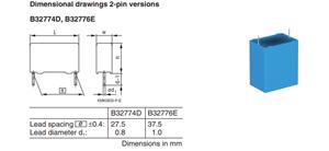 薄膜电容 B32776E126K B32776E0126K000 12UF 10%