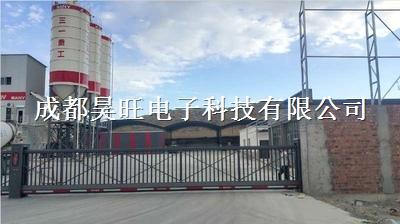 四川阿坝州学校工地折叠推拉门收缩遥控自动大门
