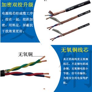 450/750V屏蔽控制电缆KVVP- 22*1.0MM2