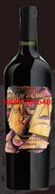 智利星油画标珍藏佳美娜红葡萄酒