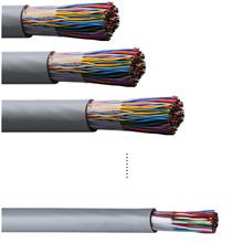 钢带铠装电话电缆HYA22国标电缆