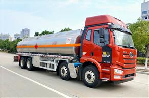 解放J6前四后八铝合金运油车(25.31立方)