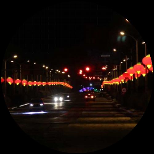 新年街区灯笼装饰