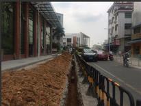 沙塘布九年一贯制市政燃气接驳工程燃气管沟开挖