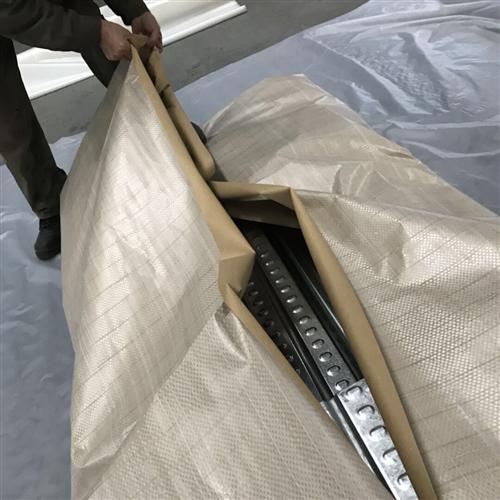 出口迪拜——楼承板包装过程