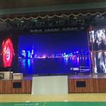 深圳市宝安区灵芝小学室内全彩P3led显示屏安装试调完毕