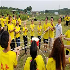 深圳乐湖生态园团队拓展项目:击鼓颠球