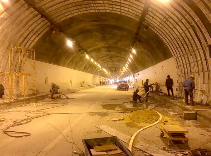 北海隧道加固施工現場