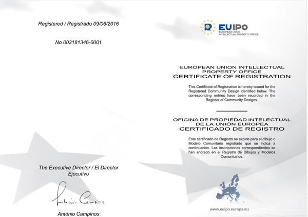 EU Design Patent of WF-010