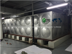 肇庆地产公司不锈钢水箱完工