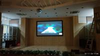 【工程投影】180寸学校3D礼堂客户案例