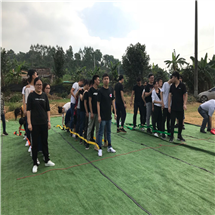 深圳乐湖生态园团队拓展项目:巨人脚步
