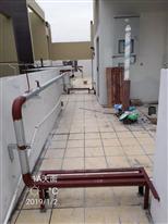 凤凰天誉华府燃气工程焊接天面环管