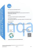 IATF16949质量管理体系证书-英文