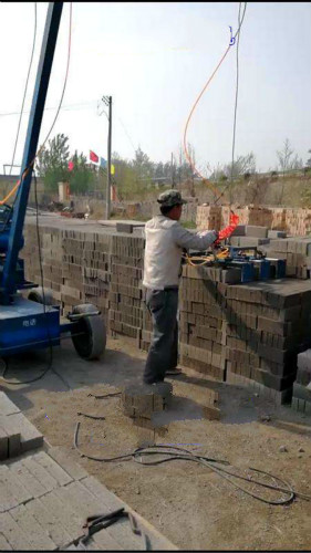 水泥砖码垛机操作视频