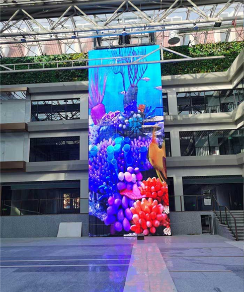 苏州某大型市场室内P3.9透明屏