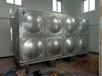 广东古粤水箱在德庆工地55吨不锈钢水箱正在施工