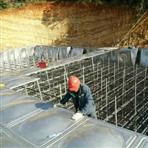 江门开平800吨工业不锈钢水箱正在施工中